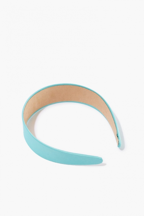 Forever21 Forever 21 Faux Leather Headband , Teal Headwear