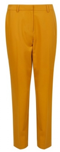 Dorothy Perkins Yellow Ankle Grazer Trousers Trouser