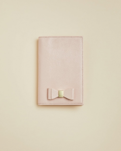 Ted Baker Bow Leather Passport Holder Passport Cover