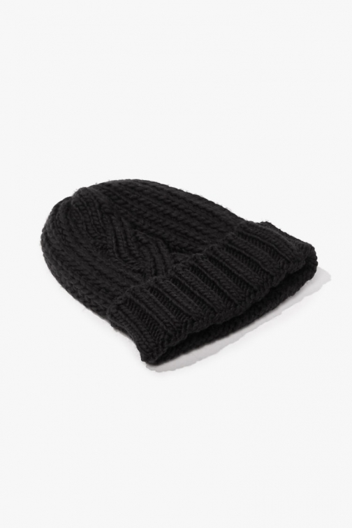 Forever21 Forever 21 Cable Knit , Black Beanie