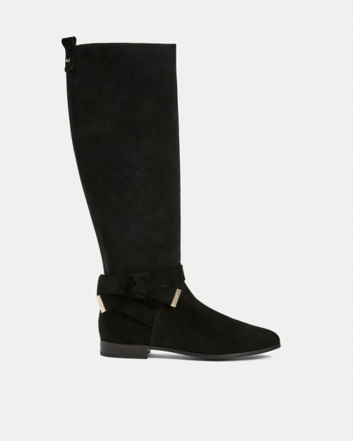 Ted Baker Suede Bow Detail Knee High Boot