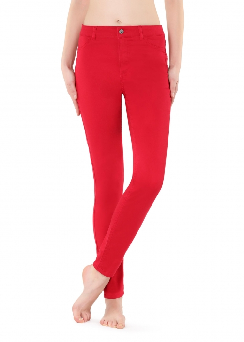 Calzedonia - Push-up And Soft Touch , M, Red, Women Jeans