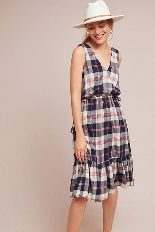 Anthropologie Dickens Plaid Dress