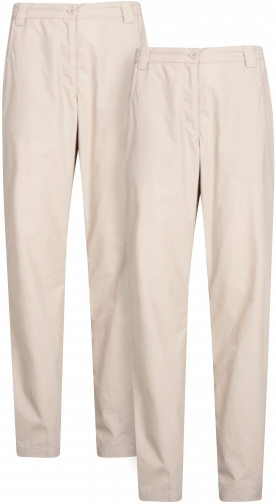 Mountain Warehouse Quest Womens Trousers Multipack - Beige Trouser