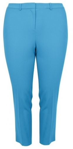 Dorothy Perkins Dp Curve Turquoise Ankle Grazer Trousers Trouser