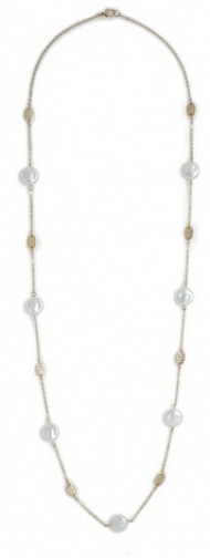 Dorothy Perkins Cream Pearl And Chain Necklace