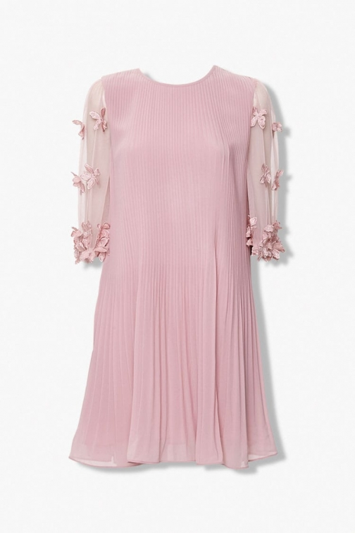 Forever21 Forever 21 Accordion , Dusty Lavender Pleated Dress