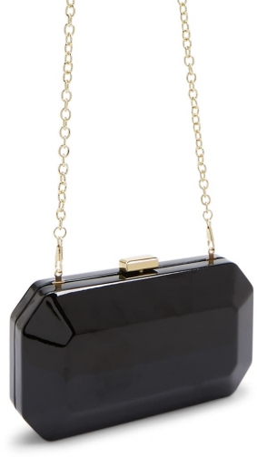 Forever21 Forever 21 Faux Patent Leather , Black Clutch