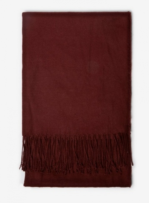 Dorothy Perkins Womens Wine Plain Acrylic - Red, Red Scarf