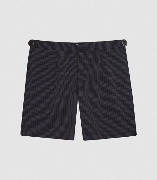 Reiss Southwold - Textured Striped Navy, Mens, Size 28 Short