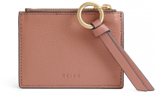 Reiss Lottie - Leather Rosewood, Womens Card Holder