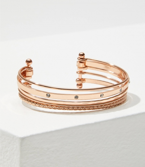 Loft Metallic Layered Bracelet
