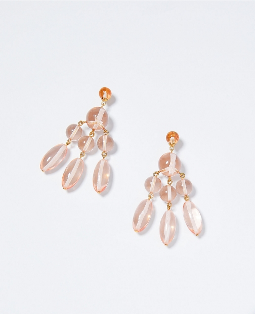 Ann Taylor Beaded Tiered Statement Earring