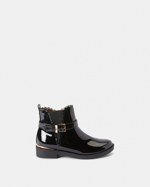 Ted Baker Patent Buckled Chelsea Boot