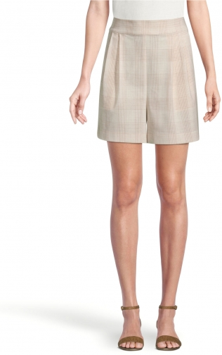 Ann Taylor Factory Checked Pull On Short