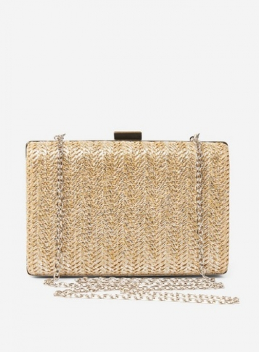Dorothy Perkins Nude Weave Box Bag Clutch