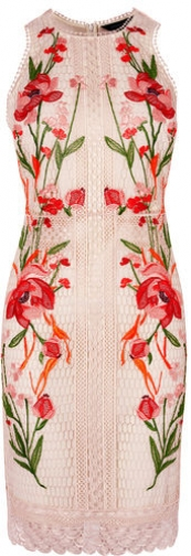 Karen Millen Embroidered Bodycon Dress