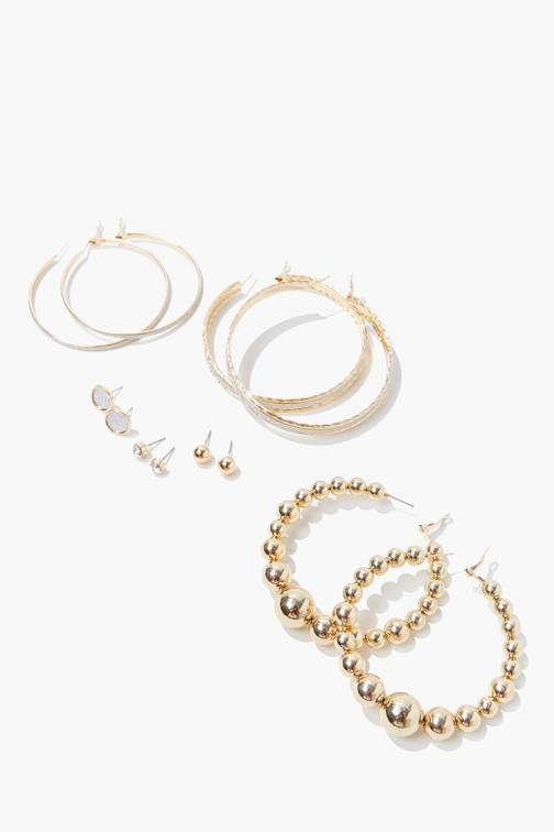 Forever21 Forever 21 Hoops & Studs Earring Set , Gold Jewellery