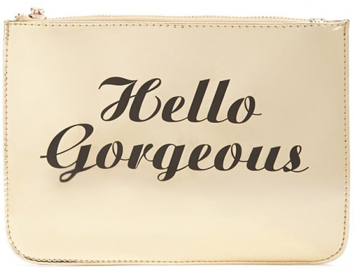 Forever21 Forever 21 Hello Gorgeous Makeup Gold Pouch