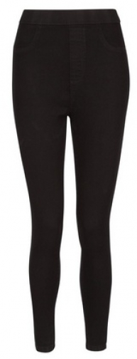 Dorothy Perkins Petite Black 'Eden' High Waisted Jegging