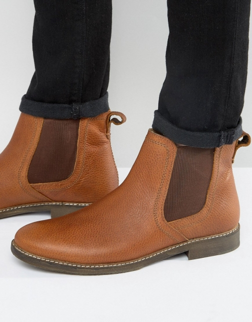 Red Tape Chelsea Beige Leather Boot