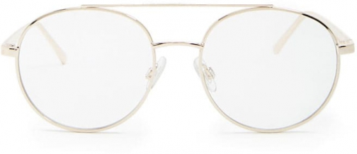 Forever21 Forever 21 Round Metallic Readers , Gold/clear Eyewear