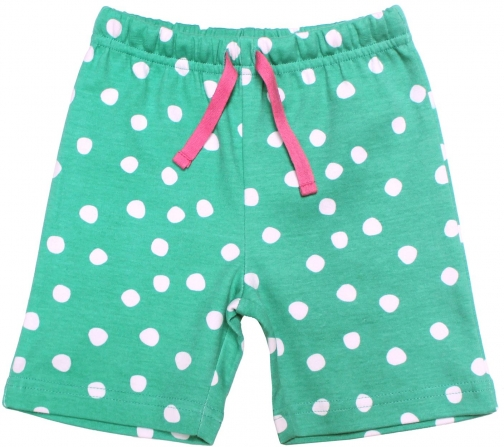 Toby Tiger Girls Green And White Dot Short