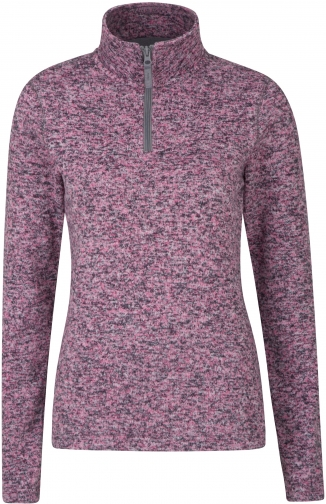 Mountain Warehouse Idris Womens Half Zip Fleece - Pink