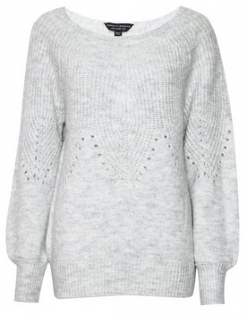 Dorothy Perkins Grey Pointelle With Recycled Yarns Jumper