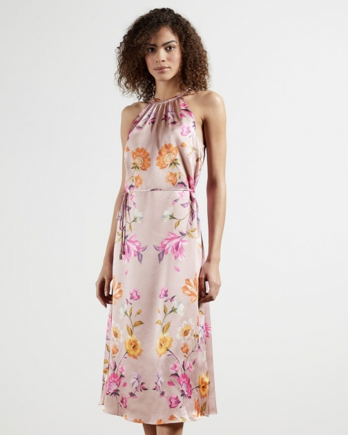 Ted Baker Rhubarb Halterneck Midi Dress