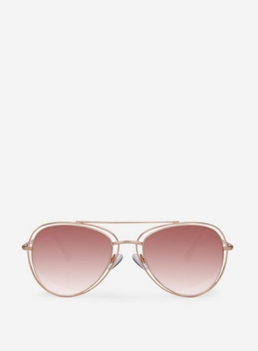Dorothy Perkins Rose Gold Double Trim Sunglasses