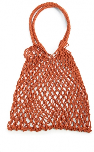 Forever21 Forever 21 Netted , Brown Shoulder Bag