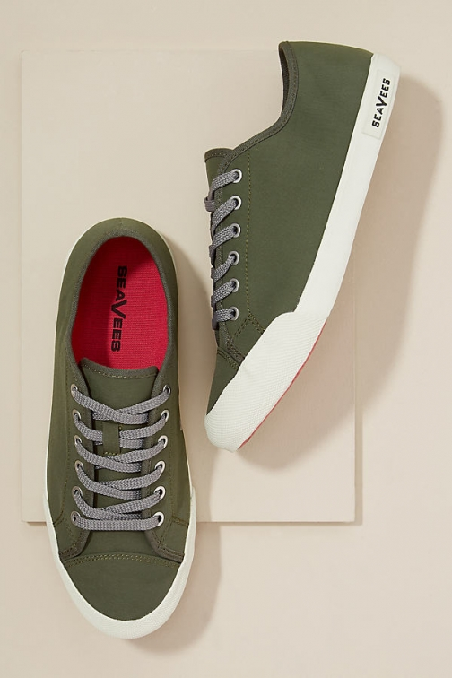 Anthropologie SeaVees Army - Green, Size Trainer