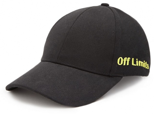 Forever21 Forever 21 Off Limits Graphic Dad Black/yellow Cap