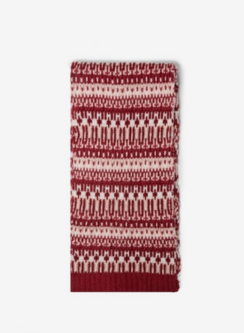 Dorothy Perkins Womens Red Fairisle - Red, Red Scarf
