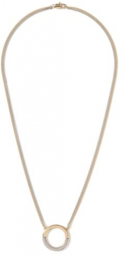 Topman Mens Grey Gold And Silver Look Circle Pendant *, Grey Necklace