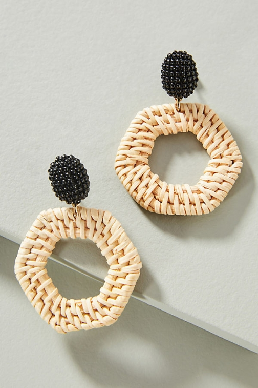 Anthropologie Jana Wicker Drop Earring