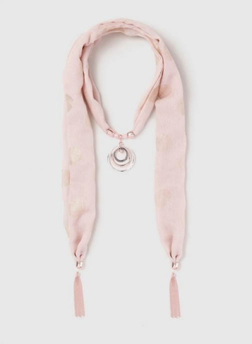 Dorothy Perkins Blush Pink Fabric Necklace