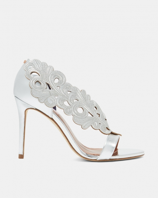 Ted Baker Cut Out Leather Embellished Sandals