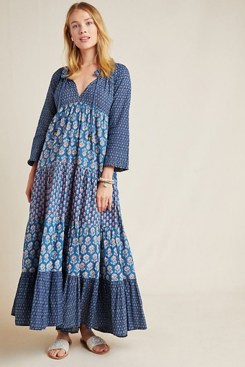 Anthropologie Sonia Floral Maxi Dress