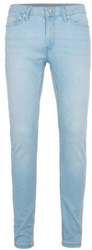 Topman Mens Blue Bleach Wash Spray On , Blue Skinny Jeans