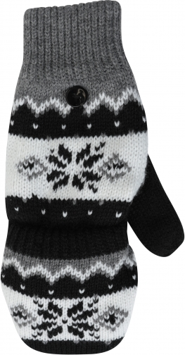 Mountain Warehouse Fairisle Thinsulate Womens Mittens - Black Glove