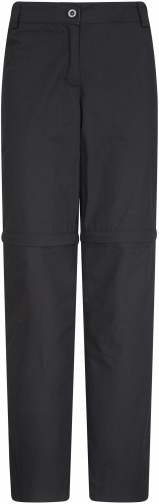 Mountain Warehouse Quest Womens Zip-Off Trousers - Extra Short Length - Black Trouser