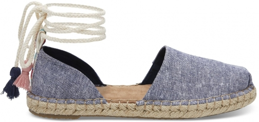 Toms TOMS Navy Slub Chambray Women's Katalina Espadrilles Shoes - Size UK4 / US6 Espadrille