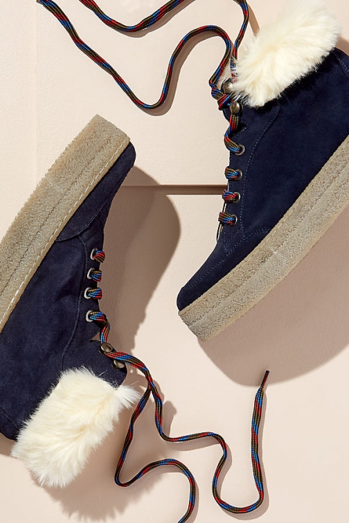 Anthropologie Fur Trim Hiking Boot