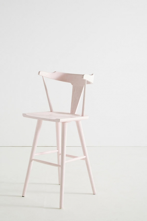 Anthropologie Mackinder Bar Stool - Purple Accessorie