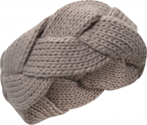 Mountain Warehouse Chunky II Womens Plaited Headband - Grey Headwear