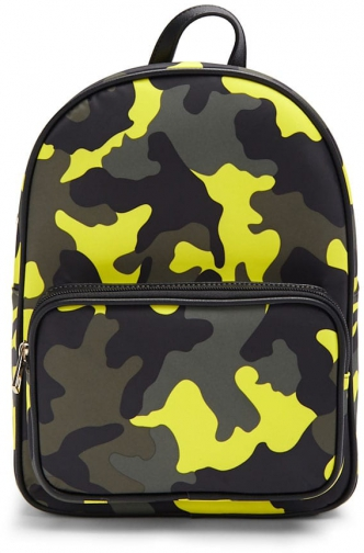 Forever21 Forever 21 Camo Print , Yellow/multi Backpack