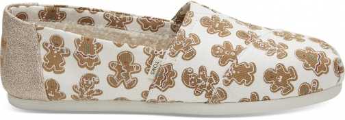 Toms Natural Canvas Sugarfrosted Gingerbread Women's Classics Slip-On Shoes