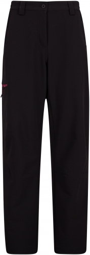 Mountain Warehouse Womens Hike 4-Way-Stretch Warm Trousers - Short Length - Black Trouser
